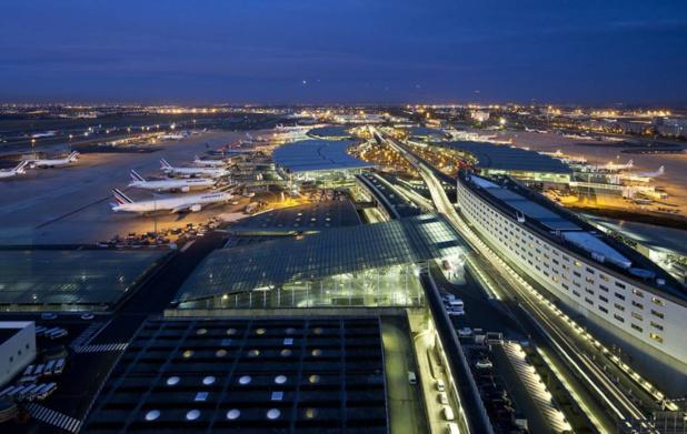 Vue sur le terminal 2 de Roissy-Charles de Gaulle © Emile Luider / La Company pour Aéroports de Paris SA