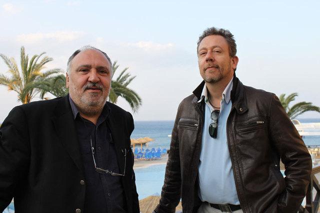 Dimitri Demetriou Directeur France du Cyprus Tourism Organisation et Jean Brajon, DG d'Heliades lors de l'éductour
