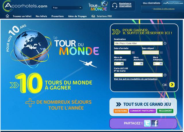Accorhotels.com fête ses 10 ans et fait gagner 10 tours du monde