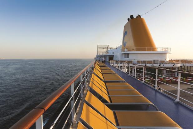 La compagnie anticipe une augmentation de la capacité des principaux ports méditerranéens grâce au nouveau navire amiral Costa Smeralda, premier navire au GNL - Photo Costa Croisières