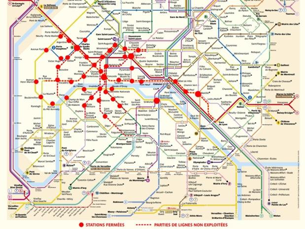 Gilets Jaunes : Champs Elysées, fermeture des musées, métro...le point sur la situation de l'acte V