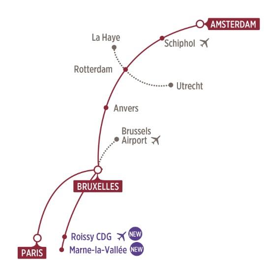 La nouvelle ligne entre Marne-la-Vallée et Amsterdam - DR