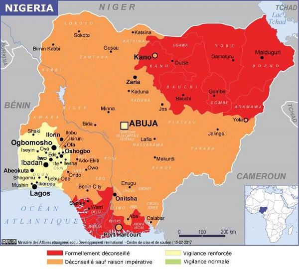 """Nigéria, le Quai d'Orsay recommande """"d'éviter tout signe ostentatoire de richesse"""" - Crédit photo : France Diplomatie"""