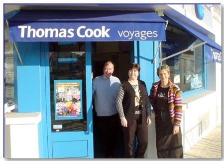 l'équipe de Royans Voyages (Thomas Cook) avec Pierre-Marc Migobert, Marie-José Preuvost et Christine Papin