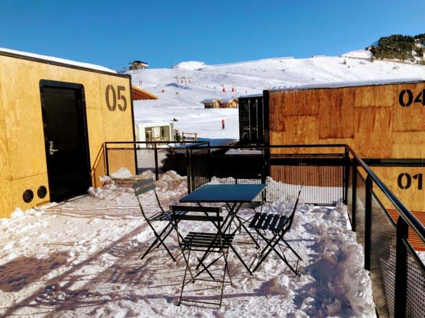 Chaussez vos skis en sortant de chez vous  au pied d'Avoriaz 1800 /crédit photo JDL