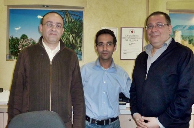 Les trois associés d'Alma Tourisme : Mohamed El Moutaouakkil, Ali Goulhiane et Chakib Benouda