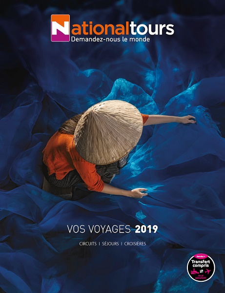 La couverture de la nouvelle brochure Nationaltours 2019 - DR