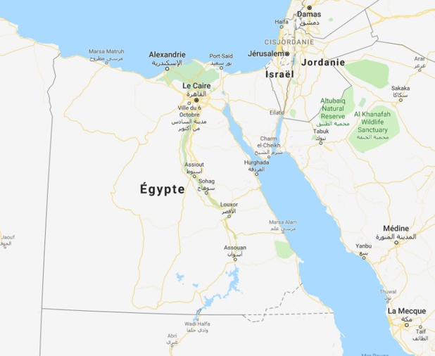 Une nouvelle tentative d'attaque terroriste a été déjouée dans la soirée du 5 janvier en Egypte selon le Quai d'Orsay - DR Google