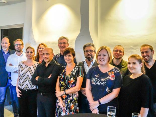 Une partie de l'équipe lors la présentation du devis et carnet de voyage digital en septembre 2018 - DR Travel Magazine