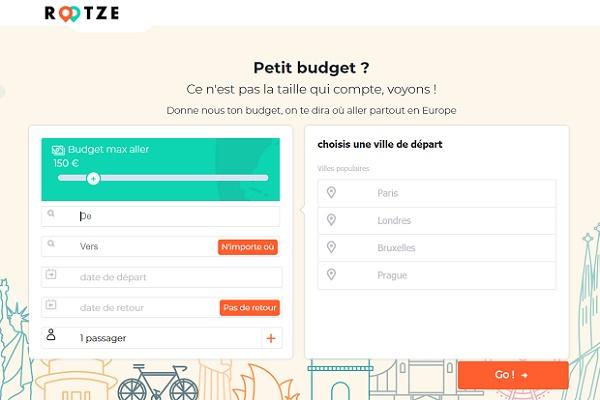 Rootze, donnez votre budget la plateforme vous trouve la destination - Crédit photo : Rootze