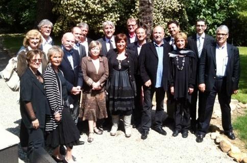 Adriana Minchella (CEDIV) et les membres du conseil du SNAV MED : Jean Guibaudo, Yves Kimmoun et Jacky Pilo