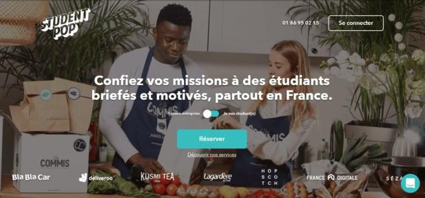 La startup met en relation des étudiants et des entreprises pour des missions courtes. - Student Pop