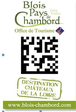 Blois-Pays de Chambord : L'OT ouvert 24h/24 et 7j/7 grâce au flash code !