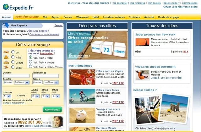Expedia fait partie des sites mis en cause par la  DGCCRF et le syndicat hôtelier SYNHORCAT