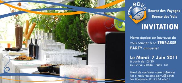 BDV.fr : terrasse party annuelle mardi 7 Juin 2011