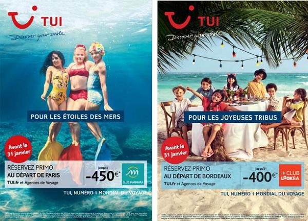 Nouvelle campagne publicitaire 2019 pour TUI - Crédit photo : TUI France