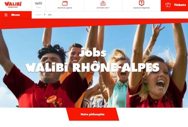 Le site dédié aux recrutements de Walibi Rhône-Alpes - DR