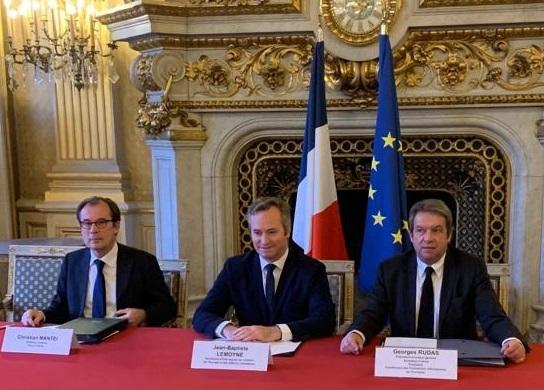Le 17 janvier 2019, Georges Rudas, président de la CFET et Christian Mantei, directeur général d'Atout France, ont signé, en présence de Jean-Baptiste Lemoyne, secrétaire d'Etat auprès du MAE, une convention de partenariat - DR : Atout France