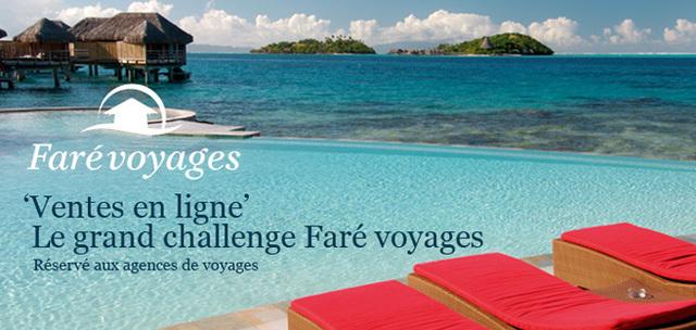Faré Voyages lance un challenge de ventes en ligne Polynésie