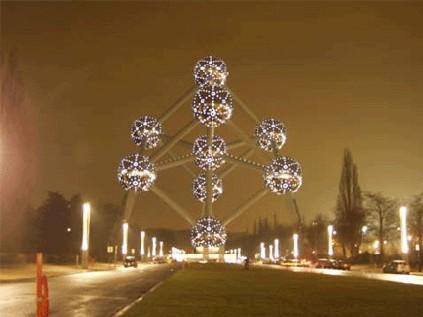 Pas vraiment ''explosive'' l'inauguration de l'Atomium...