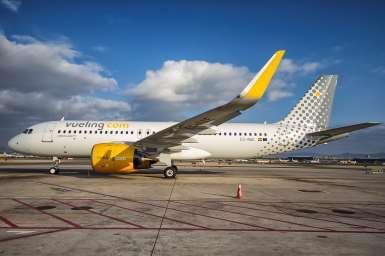 Au total, la compagnie assurera 8 vols de 180 sièges chacun entre les deux villes les jours de match - DR : Vueling