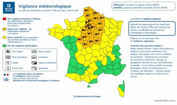 Carte de Météo France - DR
