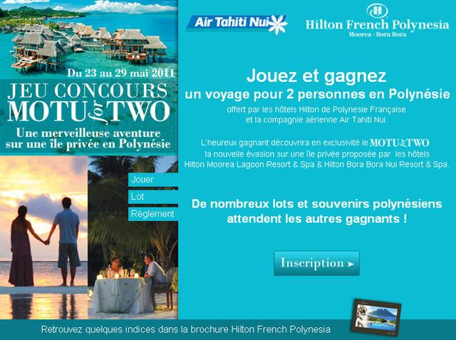 Hilton fait gagner un voyage en Polynésie aux agents de voyages