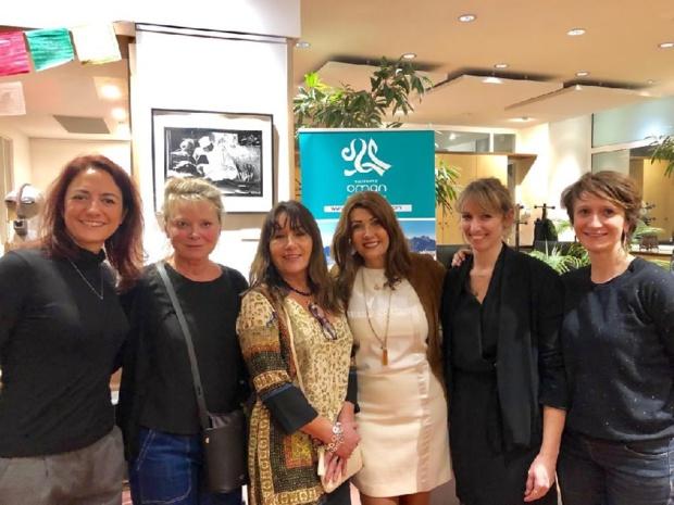 De gauche à  droite Luce Piton Terres d'Aventure, Anne de Vandière, Rocio Jolivet  Oman Air,  Rania Khodr OT Oman, Leslie Rigal OT Oman, Marianne Furlani Terres  d'Aventure - DR