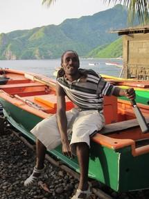 Un pêcheur dans un village du sud