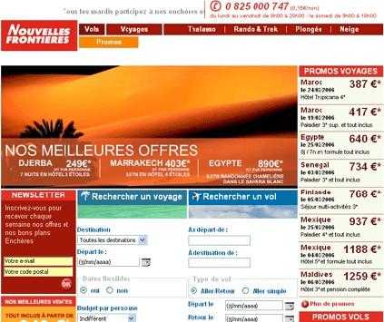 Nouvelles-Frontières lance la nouvelle version de son site