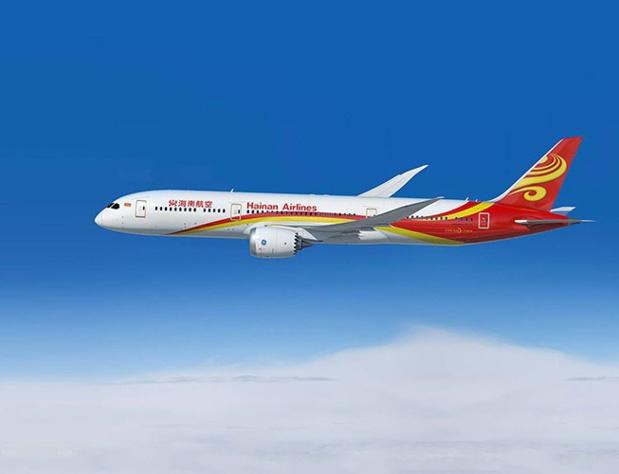 La compagnie proposera deux vols aller-retour par semaine le lundi et le vendredi, assurés par un Boeing 787-9 Dreamliner - DR : Hainan Airlines