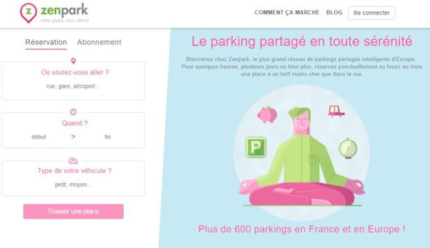 Zenpark propose une solution de parking partagé - DR Capture écran