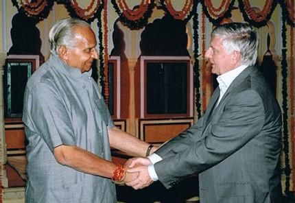 Floréal Gavalda avec le Prince de Jaipur