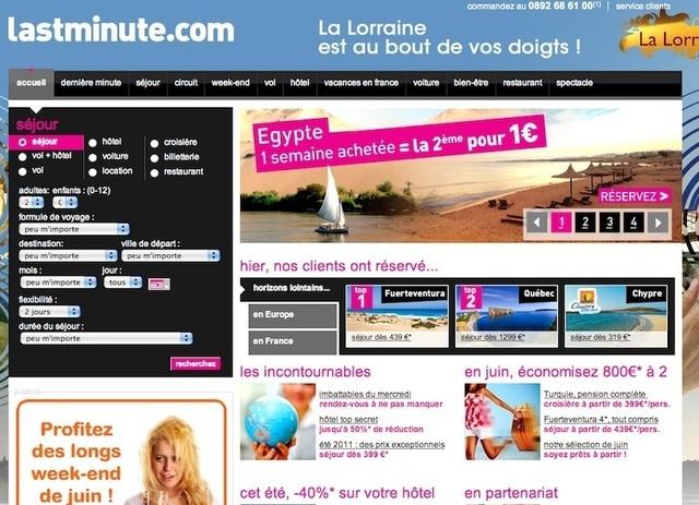 """Lastminute.com : """"Nous travaillons sur un projet de portail de ventes privées..."""""""