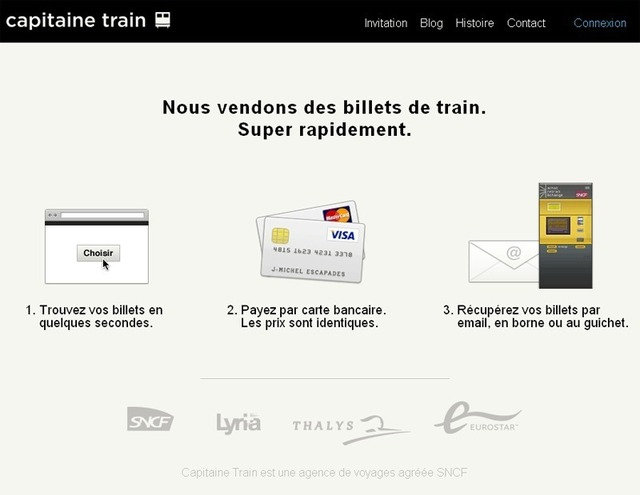 Capitainetrain.com : la vente en ligne de billetterie train en version simplifiée