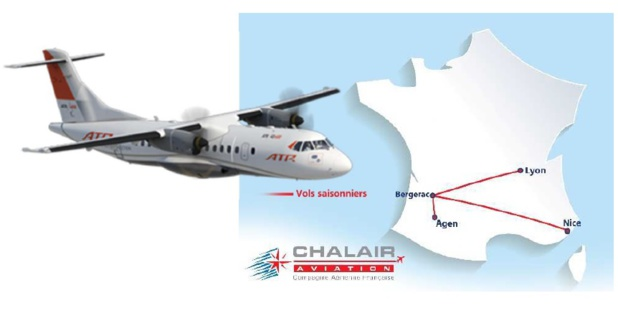 Été 2019 : Chalair desservira Nice et Lyon depuis Agen et Bergerac