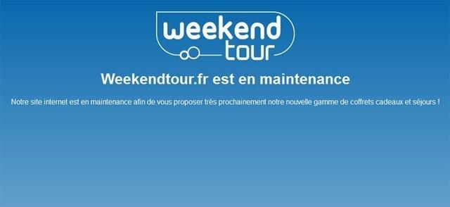 Le site de Weekendtour a tiré le rideau...