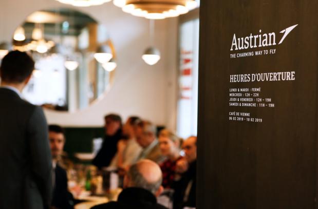 Le Café Viennois d'Austrian Airlines, au 6 impasse de la Défense à Paris © Pierre-Jean Moulis