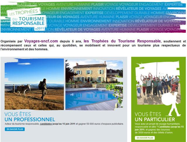 Trophées du Tourisme Responsable : les inscriptions clôturées le 15 juin à minuit