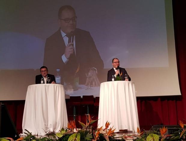 Jean-François Portarrieu, député LREM et Rachid Temal aux journées des Entrepreneurs du voyage - DR Photo CE