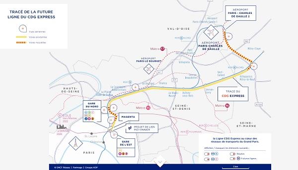 """CDG Express : pour Elisabeth Borne le projet """"est nécessaire et il sera réalisé"""" - crédit photo : capture écran du site dédié au CDG Express"""
