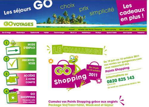 GO Voyages : nouveau challenge Go Shopping