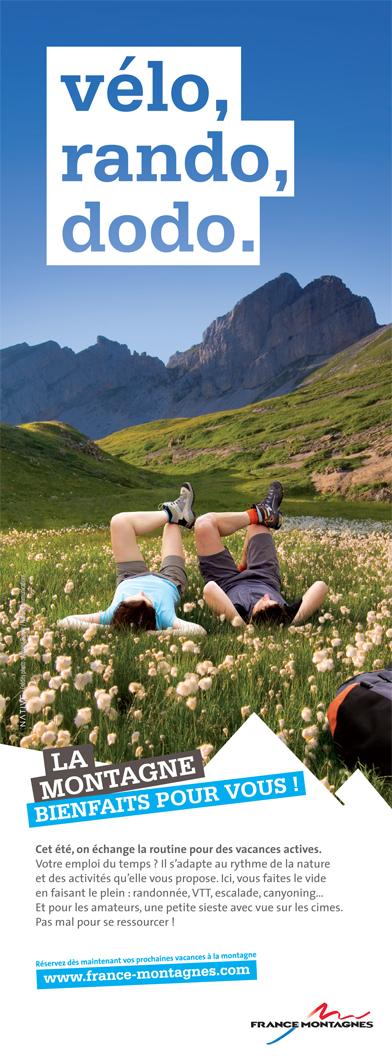 Visuel de France Montagne pour promouvoir la destination cet été.