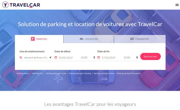 Travelcar propose des solutions de parking et de location de voitures - DR capture écran