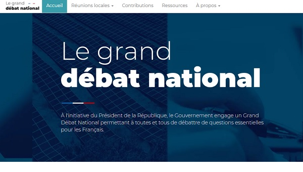 L'UMIH appelle ses adhérents à participer au grande débat national - Crédit photo : le site du grand débat national