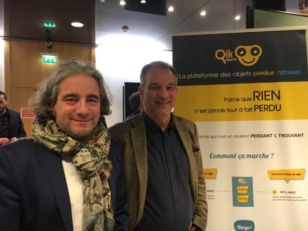 Nicolas Besch et Fawzi Baba Ali , directeurs associés de Qikobjects. - CL