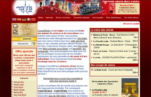''Les deux sites Cometoparis.com et soirees-a-paris.com représentent 65% de l'activité du groupe, avec une clientèle française (40%) et étrangère (60%)'' - DR