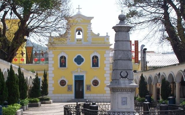 Un bel exemple d'architecture portugaise sur l'île de Coloane.