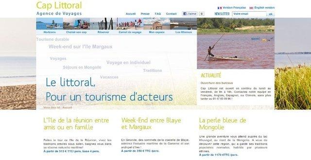 Après la mer, le site internet de Cap Littoral proposera très prochainement une offre sur le désert