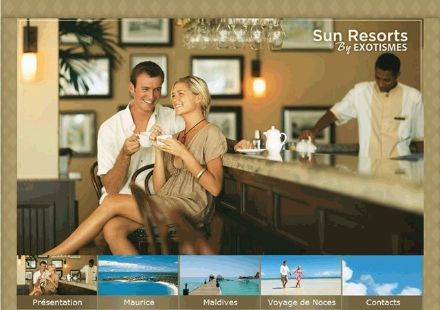Exotismes lance un site B2B commun avec Sun Resorts